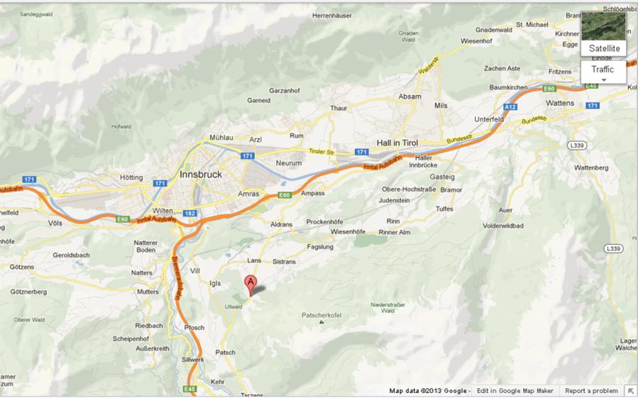 Innsbruck'taki Otelimizin Konumu