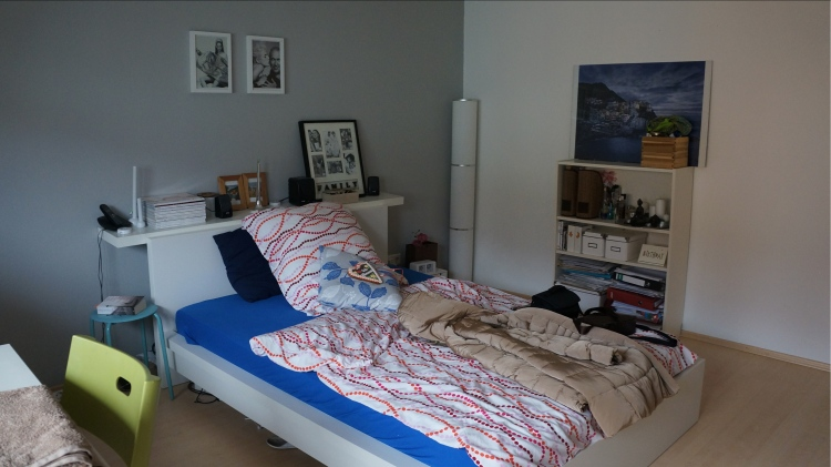Airbnb'den kiraladığımız evin odası