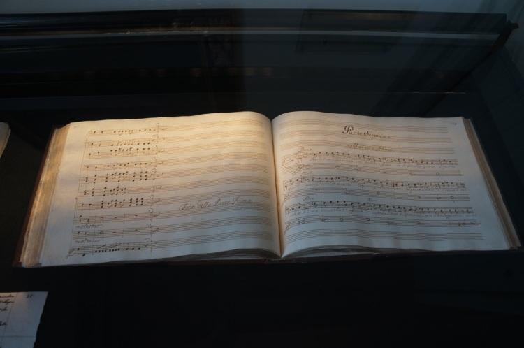 Mozart'ın nota defterlerinden bir örnek