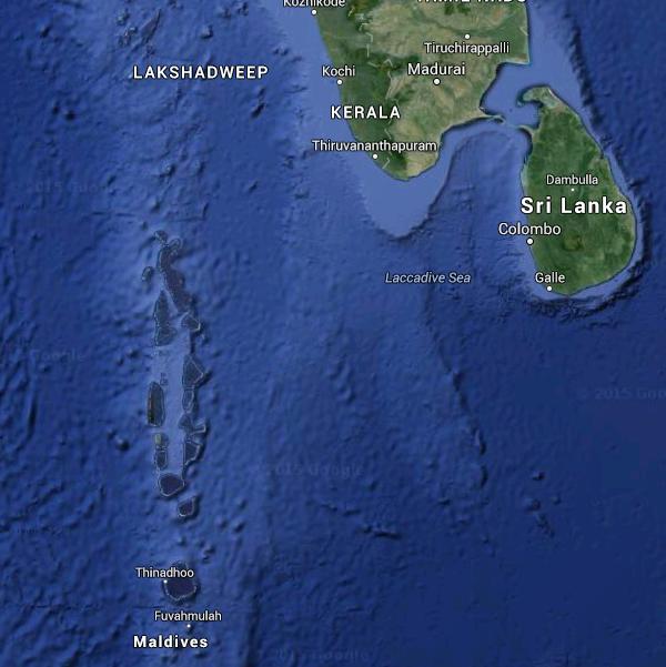 Maldivler, Sri Lanka, Hindistan ve Hint Okyanusu
