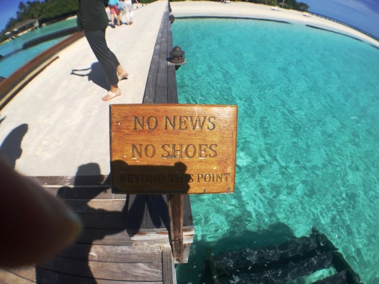 No shoes, no news..